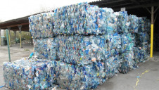 Pictured: Bales of crushed blue PET bottles. Image: Michal Manas/CC-BY-3.0